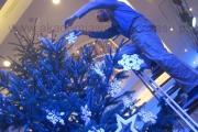 dekoracja dużej choinki